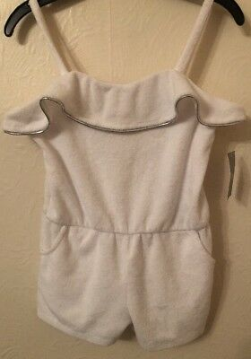 Matalan Age 3 White Summer Towling Short Playsuit Age 3