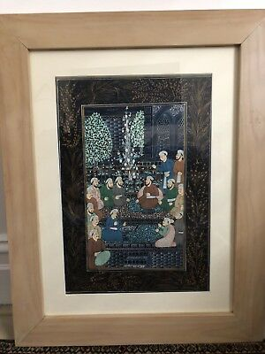 Middle Eastern Water Colour Paintings On Silk X4