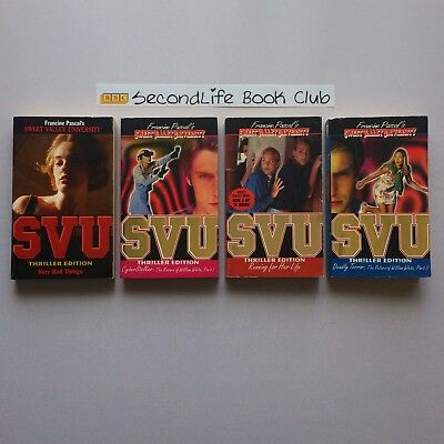 x4 SWEET VALLEY UNIVERSITY SVU THRILLER EDITIONS ~ Pascal (Vintage). #5,13,14,17