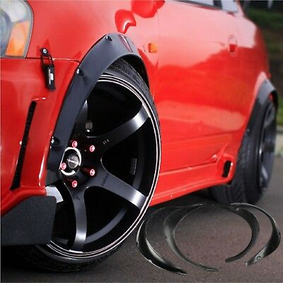 4pcs Universal Widened JDM Fender Flares Wheel Arch 2 inch ABS Car Fittings UK