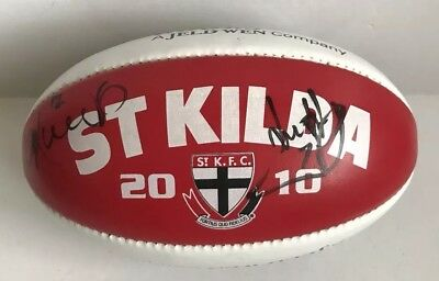 2010 St Kilda Junior Football, Signed By Nick Riewoldt, Lenny Hayes Nicky Winmar