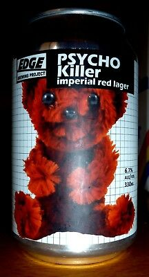 Collectable beer cans - Edge Brewing Project: Psycho Killer Imp. Red Lager 330ml