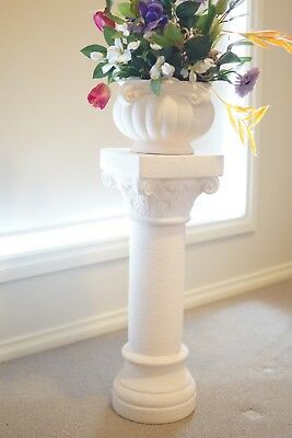 Artificial Flowers + Vase + Pedestal Stand