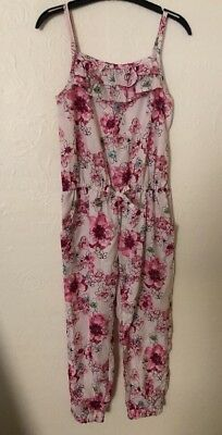 SilkyFeel Age 5 Floral Playsuit From Matalan