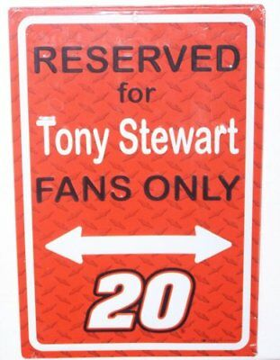 """LARGE Reserved Parking Sign For Tony Stewart Fans 18"""" x 12"""" Nascar Racing"""