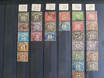 Great Britain stamps 1914-1969 Huge Collection Postage Due Stamps Used 26 Stamps
