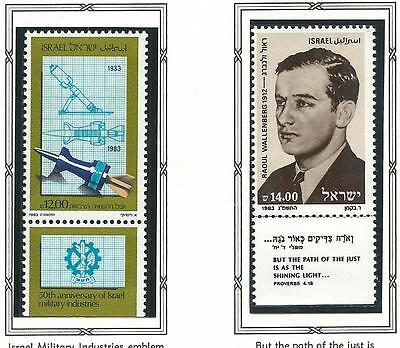 1983 Military Industries & Raoul Wallenberg  all with Tabs  MUH/MNH  as Issued