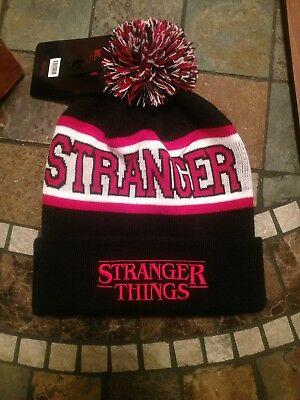 60147551459 NWT Official Netflix STRANGER THINGS Black Beanie Hat Loungefly NEW  Authentic