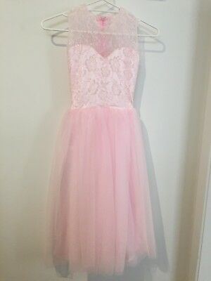 Flower girl / junior bridesmaid / confirmation dress girls size 6-8 soft pink