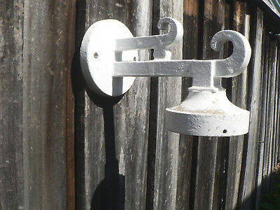 antique vintage scrolly cast iron art deco wall light front porch sconce