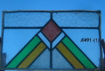 A491 Art Deco   Stained Glass window . Ca 1930s