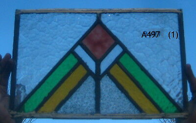 A497  Art Deco   Stained Glass window . Ca 1930s