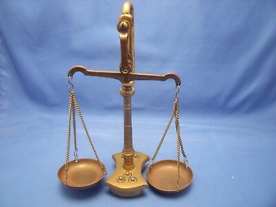 Vintage Balance Scale Weights Brass Grams Jewelry Apothecary Art Deco