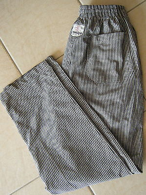 Black & White Check Catering / cooks Pants Size XS / 24in/26in