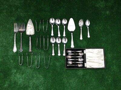 Joblot A Collection Of Silver Plated Cultlery Some Kings Pattern Some Cleaned