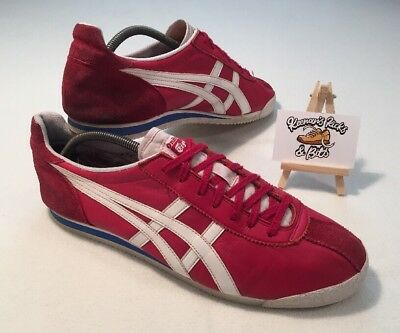 huge selection of 1a6f9 753a5 ASICS ONITSUKA TIGER Red Leather Trainers UK 11.5 'VINTAGE RARE MEXICO 66'