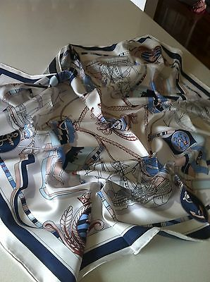 BN top quality12 mommes twill silk square scarf 90cm X90cm with hand rolled hems