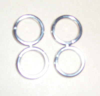 4 small metal rings New polished