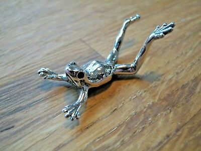 Muller Style Birmingham Hallmarked Sterling Silver Frog Toad Belly Flop