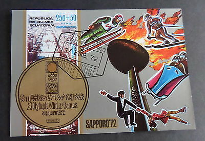 Equatorial Guinea 1972 winter olympics ice skating  MS miniature sheet CTO  used