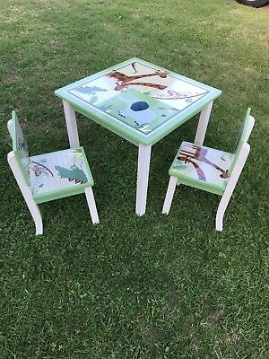 Zanzibar Kids Table And 2 Matching Chairs