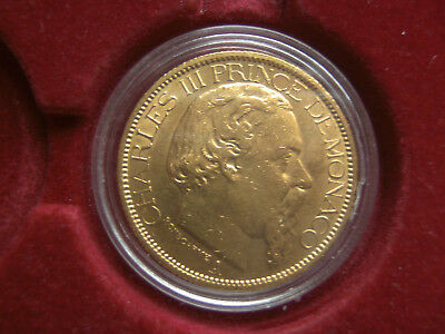 Monaco 100 Francs 1886 Gold Charles III 1856 - 1889  *TOP*