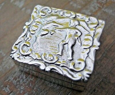 A Beautiful Hallmarked Solid Sterling Silver Hanau Style Cupid Box - Love Token