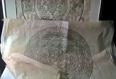 a collection 5 big  18 century tibetan/chinese wood block print,hand made paper.