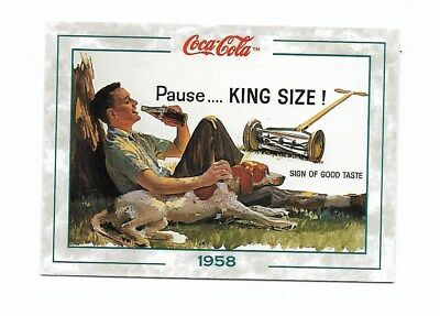 Coca Cola Collection Series 2 (1994) 1958 # 132 Lawn Mower PAUSE Man Dog