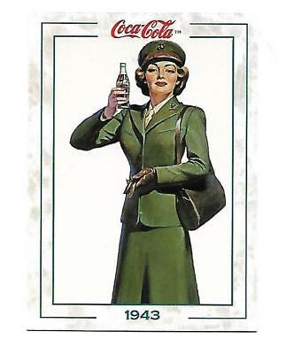 Coca Cola Collection Series 2 (1994) 1943 # 141 Military Service Gal War Time