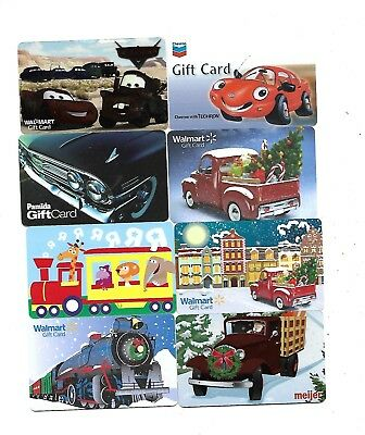 """8  Collectible Gift Cards    """"Cars-Trucks-Trains"""""""