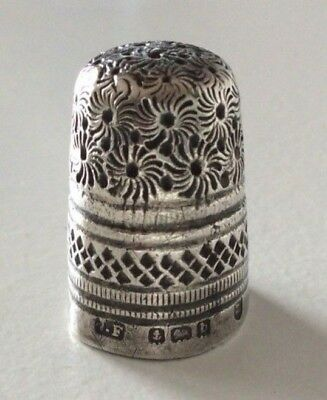 Antique Sterling Silver Thimble James Fenton Birmingham