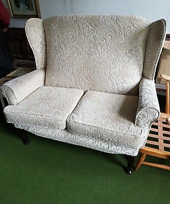 Vintage Wingback High Back Two Seater Settee