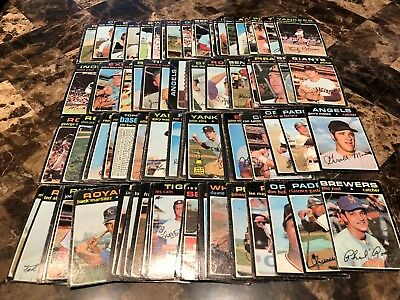 1971 Topps Baseball Lot of 97 Vintage Poor Condition