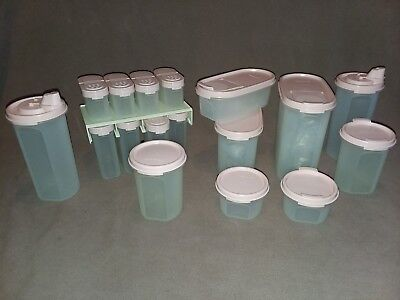 NOS UNUSED Vintage Tupperware lot of Modular Mates Containers & Spice Rack