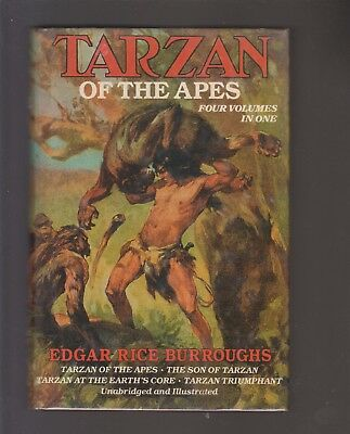 EDGAR RICE BURROUGHS hcdj 4/1 TARZAN OF THE APES/SON OF/EARTH'S CORE/TRIUMPHANT