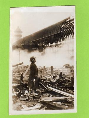 Fire Ruins Crystal Palace London unused RP pc Ref C663