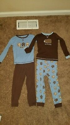 Lot of 2 Boys 5T Just One Year by Carter's Pajama Sets
