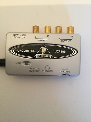 Behringer UCA202 U-Control Sound Card Music Production Interface - Free Post UK