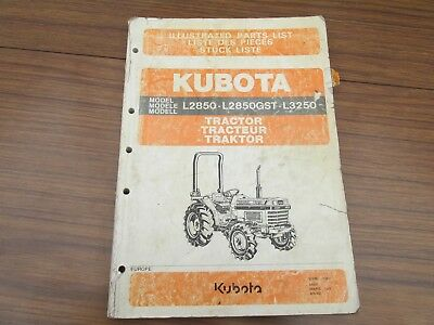 Kubota L2850,l2850Gst And L3250 Tractor Parts List
