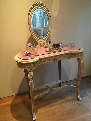 Louis XVI Antique French Painted dressing table - late C19th. Original Paint
