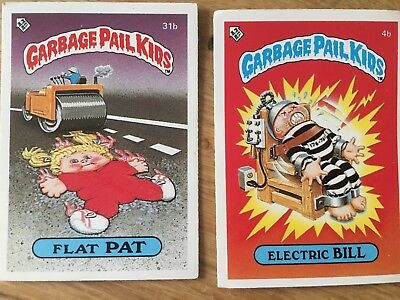 2 Garbage Pail Kids Cards Original 1980's Vintage series 1