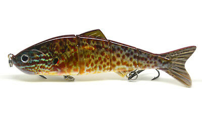 "4.8"" Multi-jointed Bass Pike Fishing Bait Swimbait Lure Life-like Sunfish NEW"
