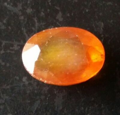 11.87 cts certified natural sapphire orange