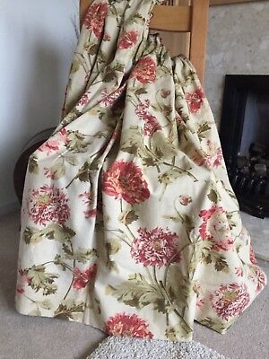 Small, Mtm Laura Ashley Curtains, Hepworth Gold, 41 ins L (could use for fabric)