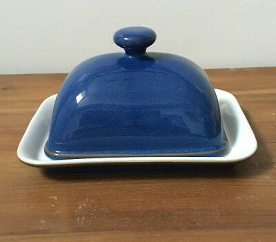 Denby Imperial Blue Butter Dish