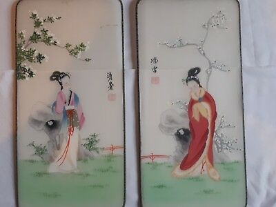 chinese silk pictures