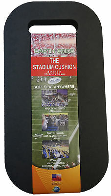 Earth Edge Llc Ee000247 15 X 8 Black Stadium Cushion With Microban�