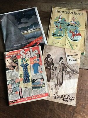 Lot of 4 - Antique 1920s 1930s Fashion Catalogs - Marshall Fields Bellas Hess