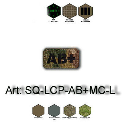 Patch Blutgruppe/Blood group Cordura NIR Laser-Cut Multicam,Coyote, Olive, Black